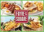 2 Main Courses and 2 Kids Meals for £10.00 @ Fayre & Square Pubs is back!