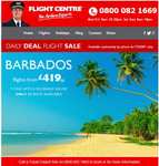 Daily deal.  50 seats for flights to Barbados