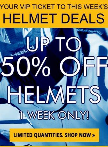 Motorcycle helmet deals at GetGeared.co.uk