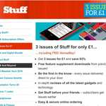 3 issues of Stuff Magazine for £1 plus free Nomad Key (for apple devices)
