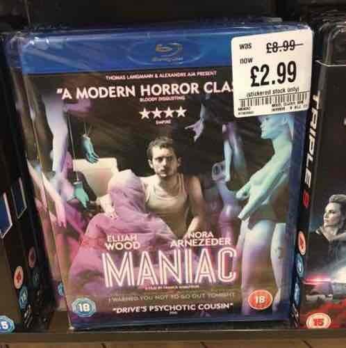 Maniac, bluray - £2.99 in HMV