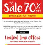 Fragrance Shop sale - Boxing Day Early Access