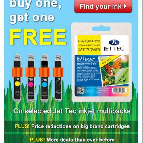 Ink cartridges BOGOF £14.99 @ Ink Factory