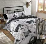 Reindeer Stag Christmas Duvet Cover Set, Double Size Only £6.62  (Prime) / £11.37 (non Prime) at Amazon