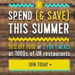 £1 for 60 days at Tastecard.co.uk (Main site says £79.99)
