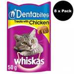 8 x Whiskas Dentabites Cat Treats with Chicken 50g = 400g (88p each) £7 FREE P&P @ Prime Retailing Ebay