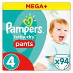 Pampers Nappy Pants Size 4 94 pack at Amazon (S&S) for £7.52 or £9.40 (Prime Exclusive)