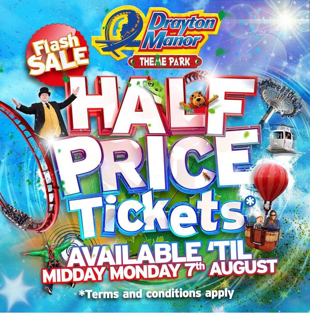 Drayton manor tickets flash sale