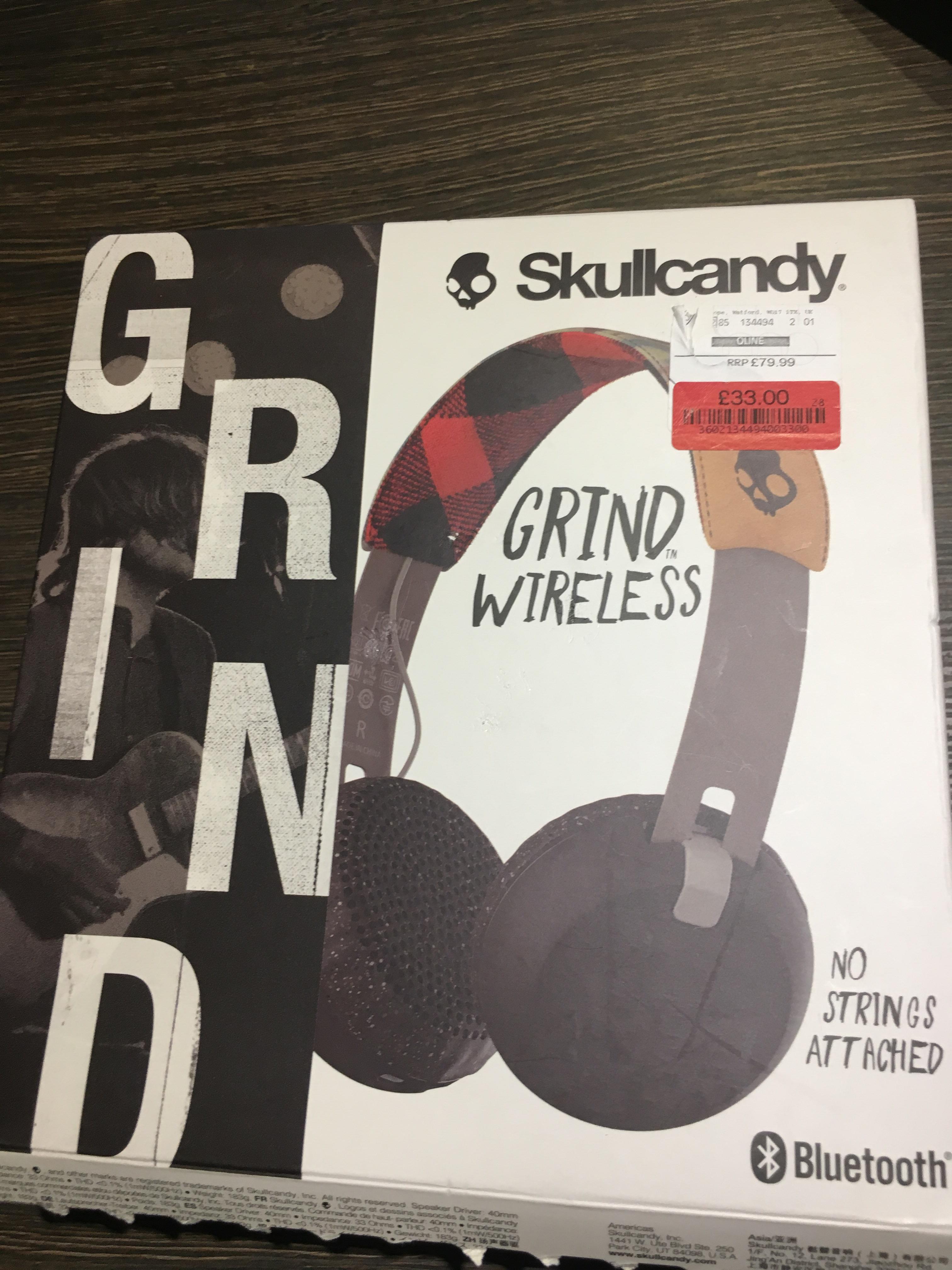 Skullcandy Grind Bluetooth Wireless Headphones £33 Instore TK Maxx