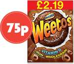 Weetos Chocolatey Hoops (375g) RRP £2.19 now only 75p @ Nisa