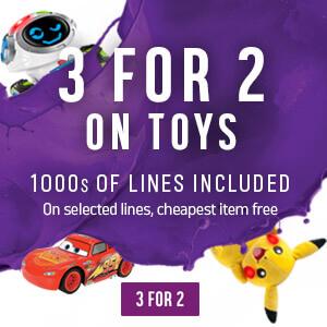 Argos 3 for 2 on Toys to start on Wednesday the 27th September.